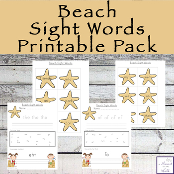 Beach Sight Words (100 Words)