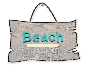 Beach Sign ~ Summer Speech-Language Activity for vocab, directions, describing