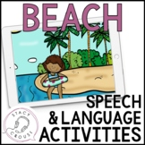 Beach Speech and Language Activities No Print Interactive PDF Distance Learning