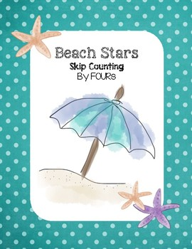 Beach Stars - Skip Counting by FOURs