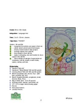 Beach Still Life Visual Arts Lesson for 5th to 12th Grade