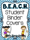 Beach Student Binder Covers