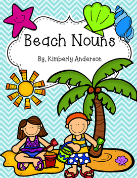 Beach Summer Nouns Sort Practice