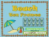 Beach {Summer} Ten Frame Clip Art {Ball Crab Castle} 0-10 Common Core Math Aid