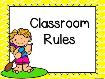 Beach/Summer/Tropical Classroom Rules