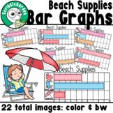 Beach Supplies: 3 Category Bar Graphs