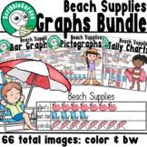 Beach Supplies: 3 Category Graphs Bundle