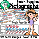Beach Supplies: 3 Category Pictographs