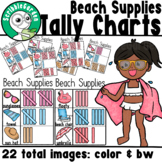 Beach Supplies: 3 Category Tally Charts