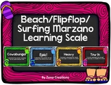 Beach Surf Flip Flop Summer Theme Marzano Learning Scale Rubric