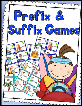 Prefix and Suffix Games: Game Board, Answer Keys, 80 Task Cards!!