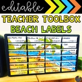 Beach Teacher Toolbox Labels