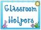 Beach Theme 2 Classrooom Helper Signs