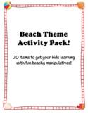 Beach Theme Activities Pack