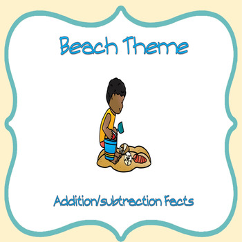 Beach Theme Addition/Subtraction Facts