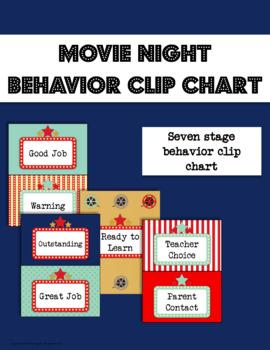 Movie Night Behavior Clip Chart