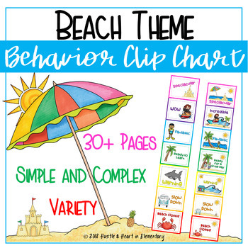 Behavior Clip Chart BEACH THEME