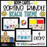 Beach Theme Boom Cards™ Sorting Bundle