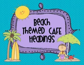 Beach Theme CAFE Headings