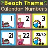 Beach Theme Calendar Numbers (3 sets)