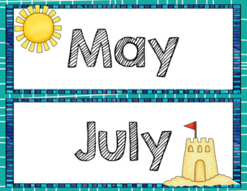 Beach Theme Calendar Set