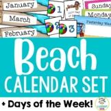 Beach Theme: Calendar Set and Days of the Week Display