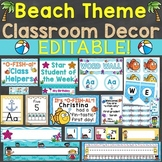 Beach Theme Classroom Decor & Back to School Activities Bu