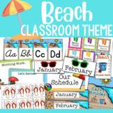 Beach Theme Classroom Decor (MEGA PACK!)