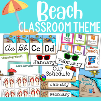Beach Theme: Classroom Decor (BUNDLE)
