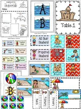 Beach Theme Classroom Decor and Activities