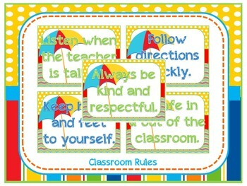Beach Theme Classroom Decoration Pack