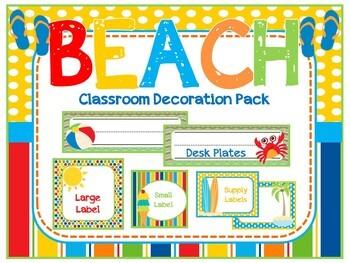 Beach Theme Classroom Decoration Pack