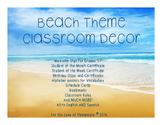 Beach Theme Classroom- English and Spanish