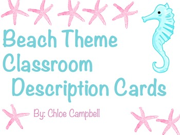 Beach Theme Classroom Job Description Cards
