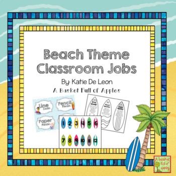 Beach Theme Classroom Jobs