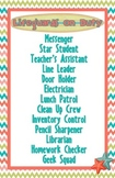 Beach Theme Classroom Jobs Poster (Editable)