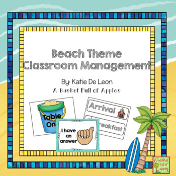 Beach Theme Classroom Management Tools