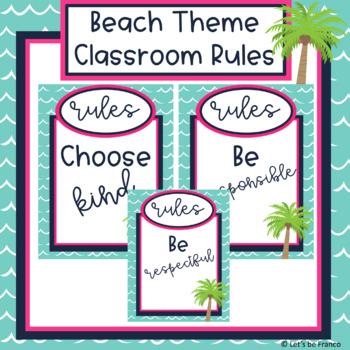 Beach Theme Classroom Rules