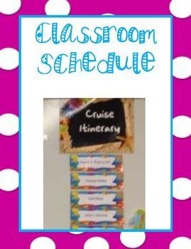 Beach Theme-Classroom Schedule