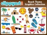Beach Theme Clipart Collection