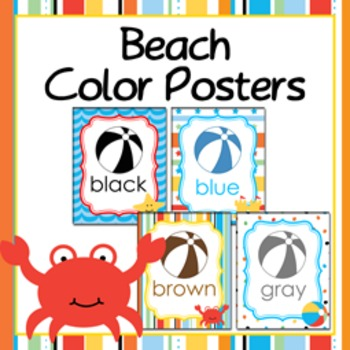 Beach Theme Color Posters