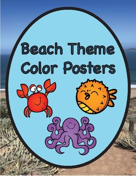 Beach Themed Color Name Posters