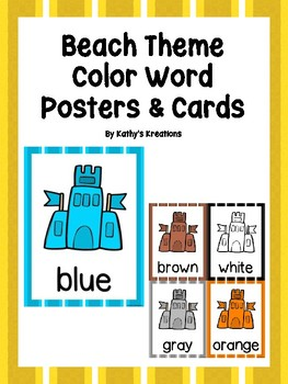 Beach Color Posters & Cards -Sandcastles