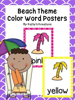 Beach Color Posters -Palm Trees