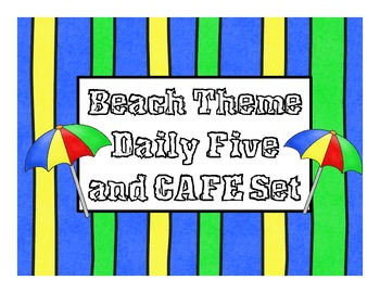Beach Theme Daily 5 and CAFE Posters