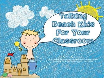 Beach Theme Decorations {Talking Beach Kids}