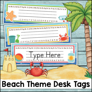 Beach Theme Desk Tags Custom Request (Dana)