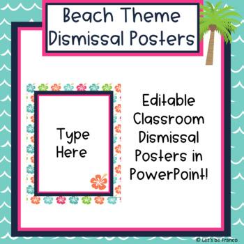 Beach Theme Dismissal Posters