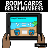 Beach Theme Early Numeracy: Number Comparison 42 Boom Card