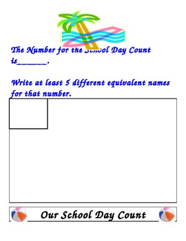 Beach Theme Everyday Math Routines
